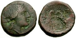 Ancient Coins - aVF/aVF Macedonia, Amphipolis Æ22 / Artemis / Goats