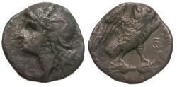 Ancient Coins - Calabria. Tarentum AR Drachm / Owl