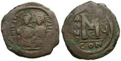 Ancient Coins - Byzantine Empire. Justin II Æ Follis