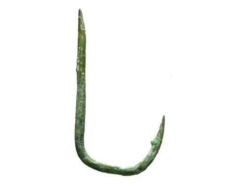 Ancient Coins - Roman Era Bronze Fish Hook