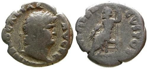 Ancient Coins - F/F Nero Denarius / Jupiter Seated