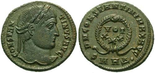 Ancient Coins - EF/EF Constantine the Great / Votive  R2