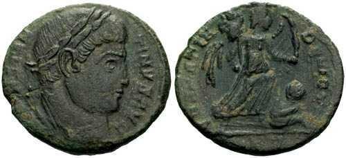 Ancient Coins - aVF/aVF Constantine the Great / Sarmatia Devicta