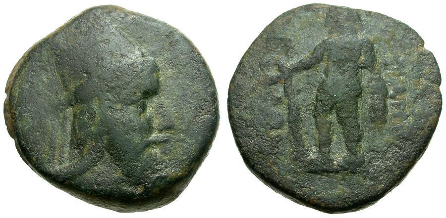 Ancient Coins - Kings of Armenia.  Tigranes V (Grandson of Herod The Great) Æ Chalkous / Herakles