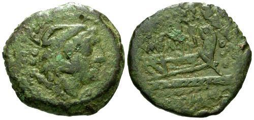 Ancient Coins - gF/F Roman Republic AE Quadrans Q MARI
