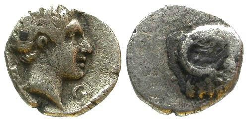 Ancient Coins - VF/aVF Unknown Carian Mint AR Fraction / Ram