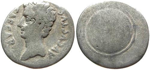 Ancient Coins - gF/aF Augustus Denarius / Shield