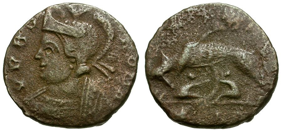 Ancient Coins - VRBS ROMA Commemorative Æ4 / Wolf and Twins