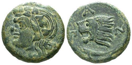 Ancient Coins - VF/VF Pantikapaion AE20 / Lion