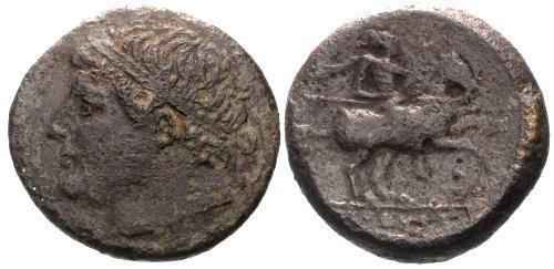 Ancient Coins - gF+/gF+ Syracuse Sicily AE27 Time of Hieron II / Horseman
