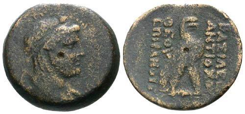 Ancient Coins - aVF/aVF Antiochus IV AE27