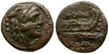 Ancient Coins - 128 BC - Roman Republic. Cn. Domitius Ahenobarbus Æ Quadrans