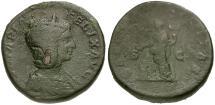 Ancient Coins - Julia Domna Æ Sestertius / Felicitas Sacrificing
