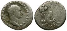 Ancient Coins - Vespasian AR Denarius / Judaea Capta