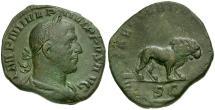 Ancient Coins - Philip I Æ Sestertius / Lion
