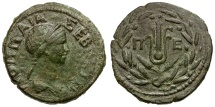 Ancient Coins - Poppaea.Thrace. Perinthus Æ28 / Headdress of Isis