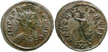 Ancient Coins - Probus Silvered Æ Antoninianus / Hercules
