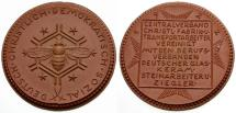 World Coins - EF/EF Germany, Berlin, Christian Democratic Union Porcelian Medal / Bee and honeycomb