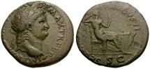 Ancient Coins - Nero Æ Dupondius / Securitas Seated