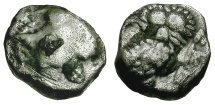 Ancient Coins - Judaea.  Persian Period. Province of Yehud AR Gerah / YHD