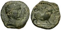 Ancient Coins - Spain.  Castulo Æ Semis / Bull