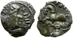 Ancient Coins - Ancient France. Celtic Gaul. Sequani. Togirix type AR Quinarius