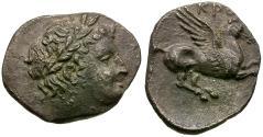 Ancient Coins - Bruttium. Kroton AR Diobol / Pegasos