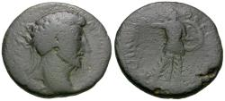 Ancient Coins - Marcus Aurelius (AD 161-180). Thessaly. Koinon Æ24 / Athena