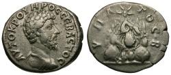 Ancient Coins - Lucius Verus. Cappadocia. Caesarea AR Didrachm / Mt. Argaeus