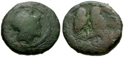 Ancient Coins - Attica, Athens Æ16 / Athena / Two Owls