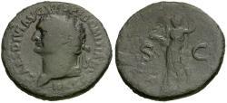 Ancient Coins - Domitian, as Caesar (AD 69-81) Æ AS / Minerva