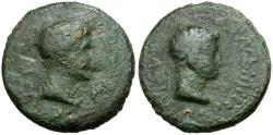 Ancient Coins - Kings of Thrace. Augustus and Rhoemetalces I Æ19