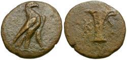 Ancient Coins - Aiolis. Kyme Æ15 / Vase