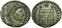 Ancient Coins - Constantine I the Great Æ3 / Camp Gate