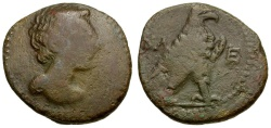 Ancient Coins - Lakonia. Lakedaimon (Sparta) Æ Semis / Eagle