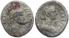 Ancient Coins - Nero (AD 54-68) with Agrippina Junior. Egypt. Alexandria BI Tetradrachm