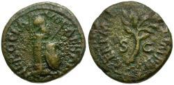 Ancient Coins - Nero Æ Quadrans / Column