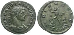 Ancient Coins - Aurelian (AD 270-275) Silvered Antoninianus / Sol and Captives