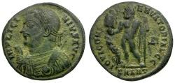 Ancient Coins - Licinius I Æ3 / Jupiter and Captive