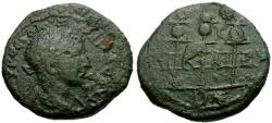 Ancient Coins - Severus Alexander, Bithynia Nicaea Æ20 / Standards