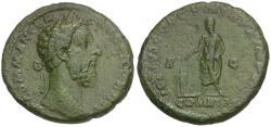 Ancient Coins - Commodus (AD 177-192) Æ AS / Emperor Sacrificing
