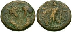Ancient Coins - Marcus Aurelius (AD 161-180) with Lucius Verus. Judaea. Gaza Æ20 / Apollo