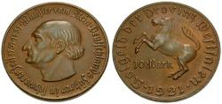World Coins - Germany, Westphalia Notgeld Issue Æ 10 Mark Token