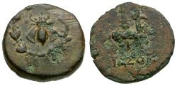 Ancient Coins - Ionia. Ephesus Æ15 / Stag and Bee