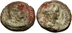 Ancient Coins - Hadrian (AD 117-138) with Sabina. Egypt. Alexandria Billon Tetradrachm / Dual Portraits