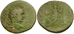 Ancient Coins - Caracalla (AD 198-217). Gabala Æ30 / Lindgren Plate Coin