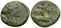 Ancient Coins - Phoenicia. Tyre. Time of Hadrian Æ13 / Astarte