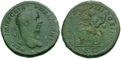 Ancient Coins - Geta Æ Sestertius / Fortuna Seated