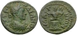 Ancient Coins - Gordian III (AD 238-244). Ionia. Magnesia Æ17 / Infant Dionysos on Cista Mystica