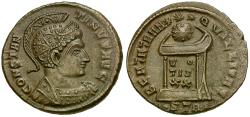 Ancient Coins - Constantine I the Great Æ3 / Globe on Altar